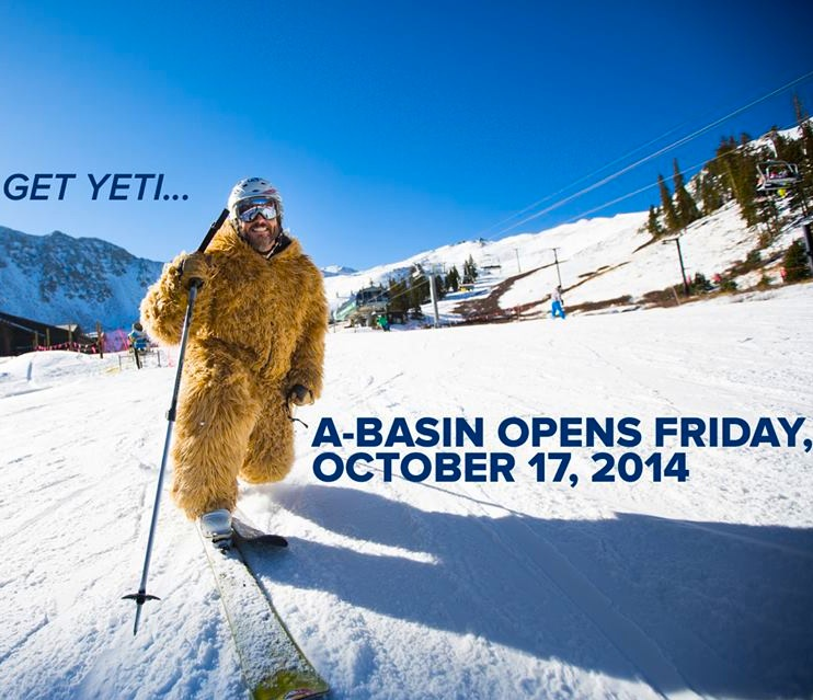 Arapahoe Basin, CO will open on October 17th!