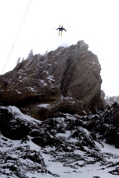 Julian Carr going huge in the SnowBird Freeskiing World Tour back in the day.