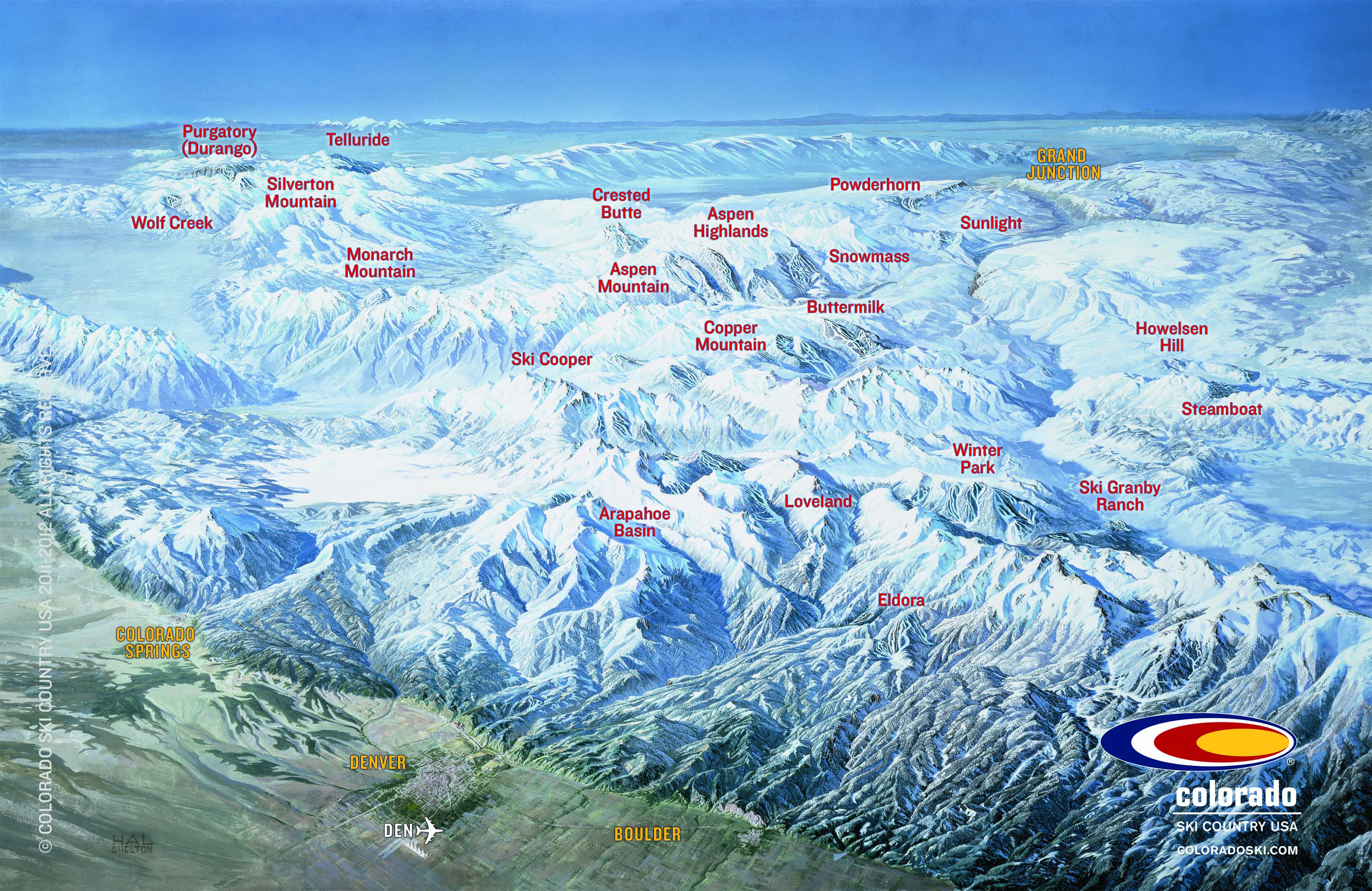 Colorado Ski Area Map Colorado ski resort map.   SnowBrains
