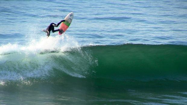 Small, fun, playful surf at Lobos.