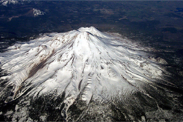 Mt Shasta from above.