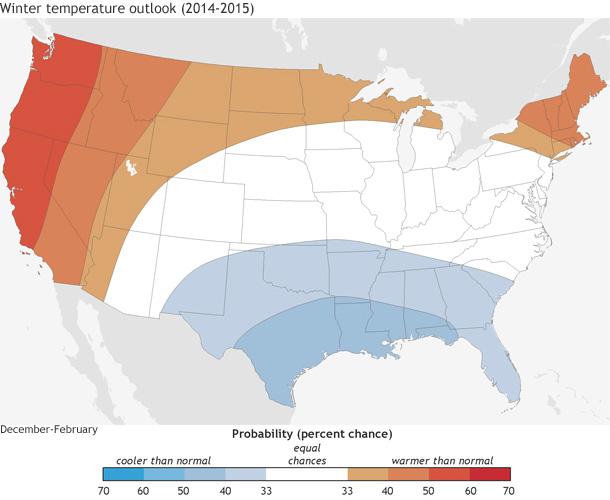 NOAA Winter Outlook 2014 2015