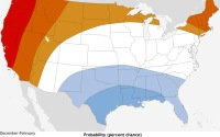 Temperature forecast for the USA in 2014/15