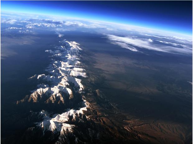 Sangro de Cristo Range, CO from a weather ballon.