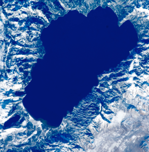 Lake Tahoe from space.