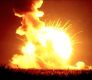 Antares rocket explodes