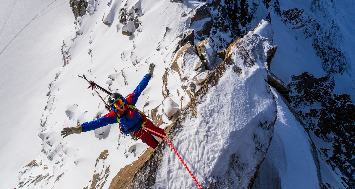 Andreas Fransson in Chamonix, France, early this year. Photo: Daniel Ronnback