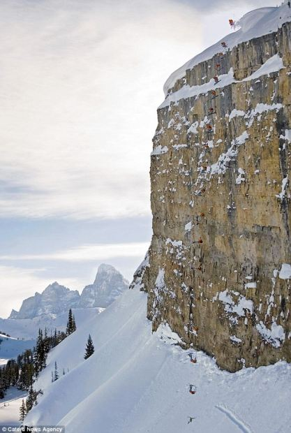 Jamie PIerre's 245-foot World Record cliff jump, that has now been surpassed by Fred Syversen went 351-feet.