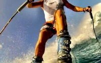 Our buddy Chuck Patterson wearing some solid ski boots at Jaws, Maui