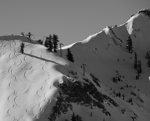 Squaw Valley, USA. Hopefully, we'll see some tracks like this in Tahoe this weekend... photo: Hank de Vre