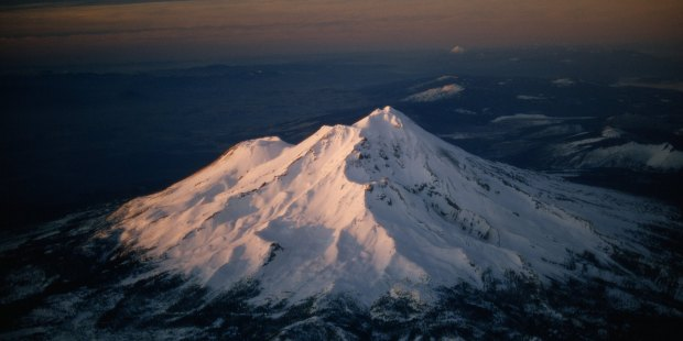 Mount Shasta stands out with stately eminence amid wilderness