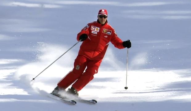 Michael Schumacher loved to ski.
