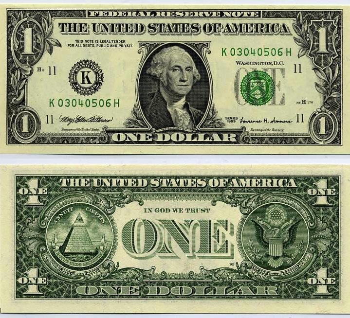 One USA dollar