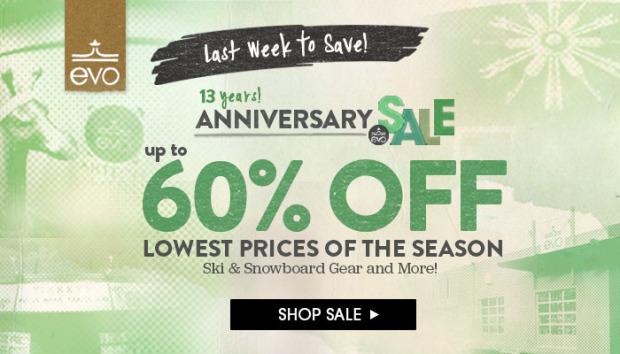 evo.com 13th anniversary sale