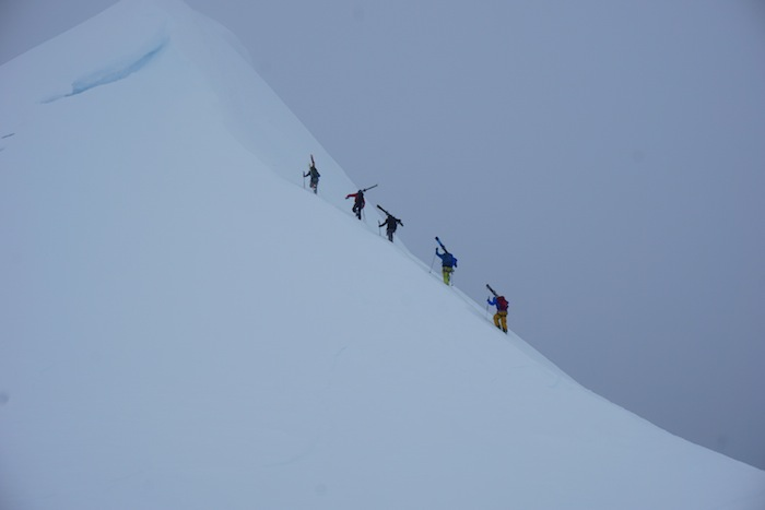 Working for some steep turns in Antarctica.
