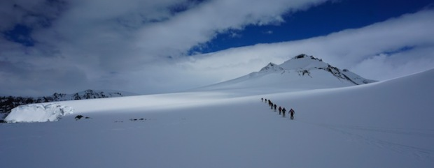 Skiing in Antarctica. photo: the crew