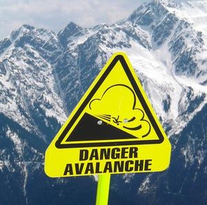 Avalanche-Danger-Sign