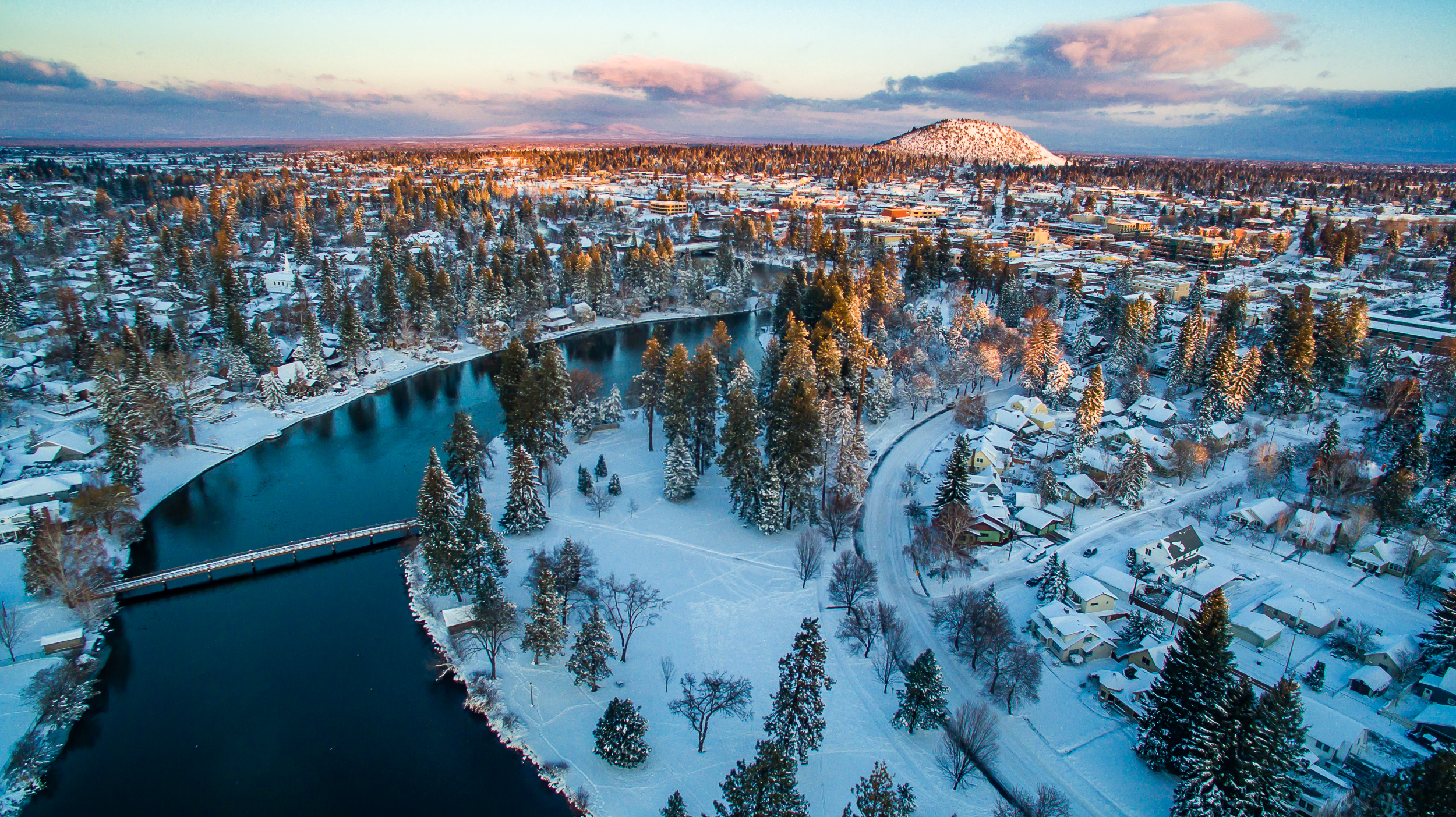 Bend, OR in winter.