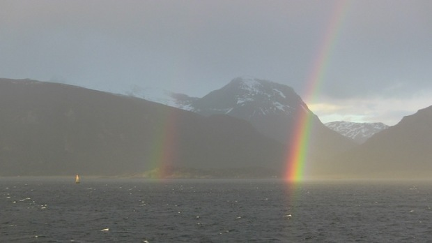 Rainbow. Beagle Channel, Argentina/Chile. photo: snowbrains.com