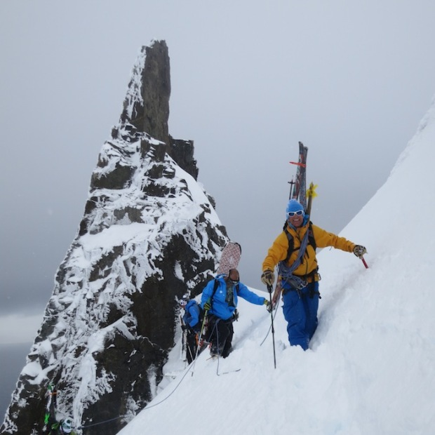 Todd AwfulFocker leading a team to the summit in Antarctica.