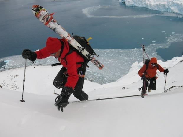 Climb on. Antarctica.
