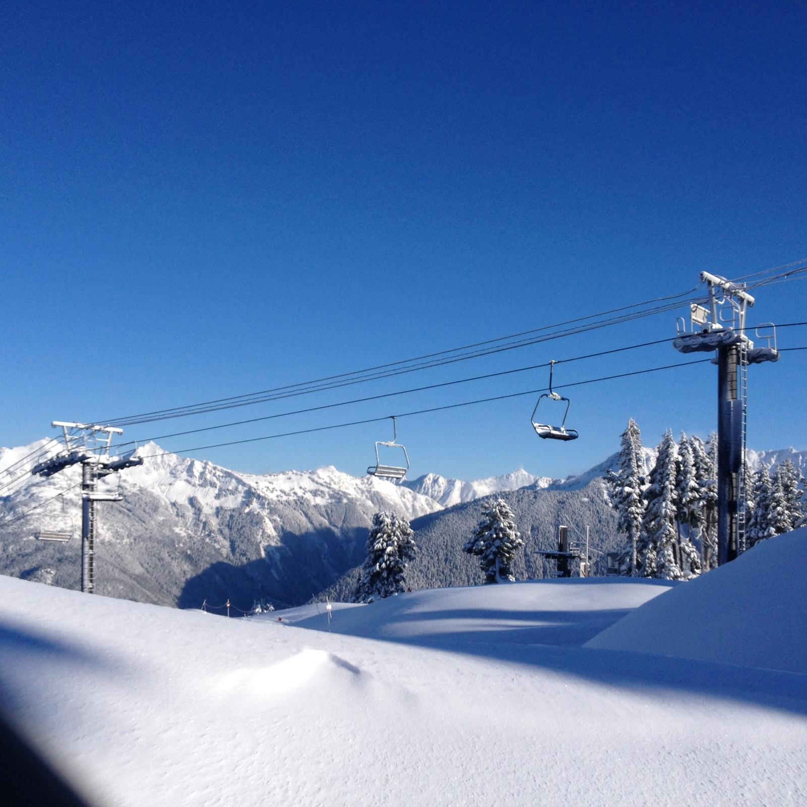 Mt. Baker today, November 29th, 2014