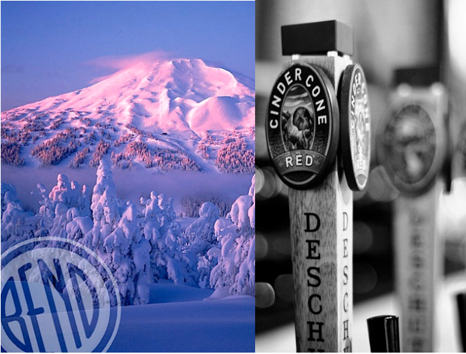 Mt. Bachelor ski resort, only 20-minutes from beer-crazed Bend, OR.