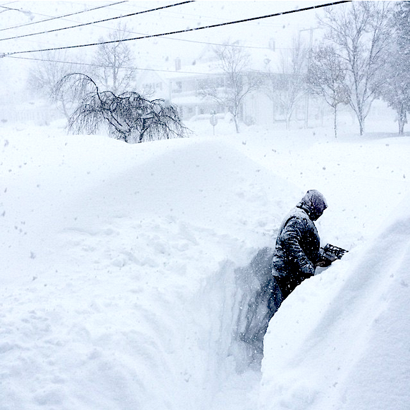 All this snow fell in one day. Buffalo, NY yesterday