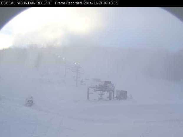 Boreal is open right now. Photo at 7:45am today, November 21st, 2014.