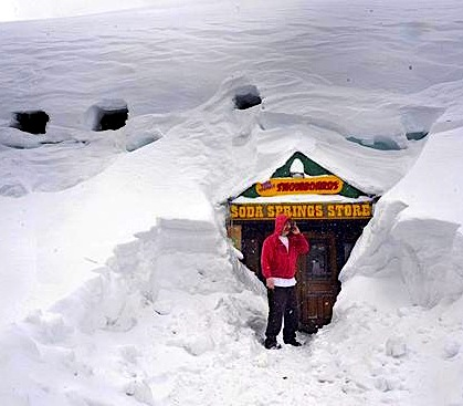 Donner Summit store in 2011. Ridiculously buried.
