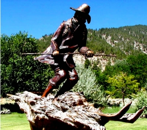 Memorial statue in Genoa, NV.