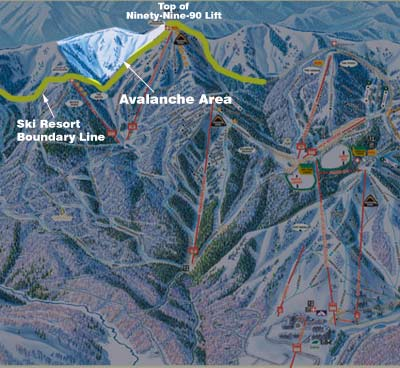 Dutch Draw Avalanche area in Park City, UT