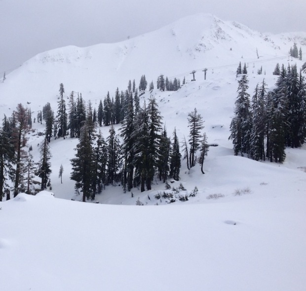 North Bowl off Headwall looking good today.