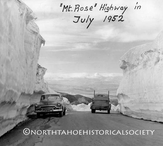 Mt. Rose, Lake Tahoe, NV highway, 1952