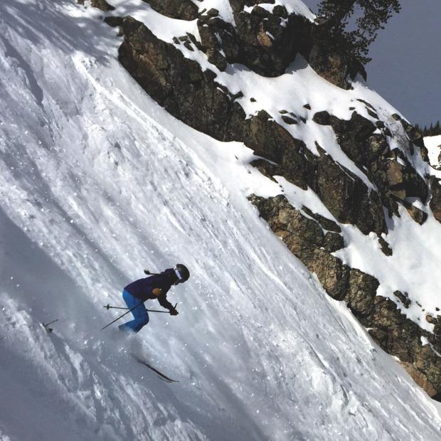 Skiing Jackson Hole's Tower 3 Chute my my Billie Coat and Nina Pant