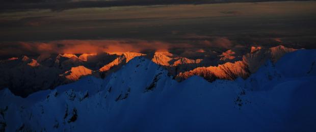Sunset Obergurgl, Foto Irian van Helfteren
