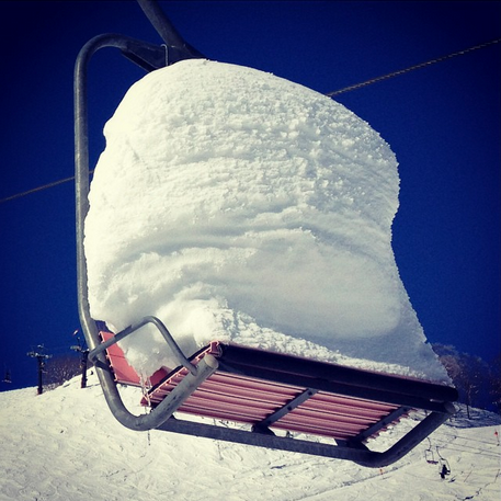 What some chairs look like in Japan in January.  photo: snowbrains