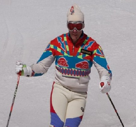 smug skier