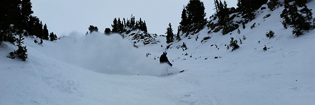 Jesse finding some of the soft stuff on High Boy