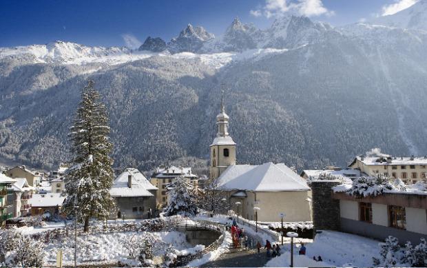 The Village of Chamonix, France.