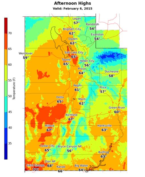 Heat is coming tomorrow for Utah