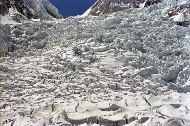 The Khumbu Icefall is intense.