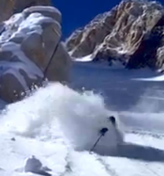 Waist deep snow california.