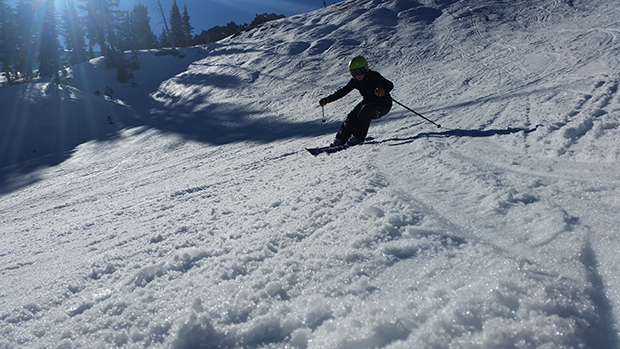 Gettin' the carve on at Squaw Valley
