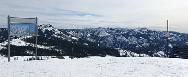 Looking out off the back side of Sugar Bowl