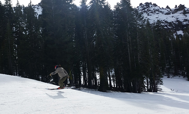 Buttering another roll at Sugar Bowl