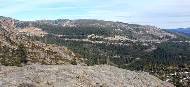 Over toward Tahoe Donner