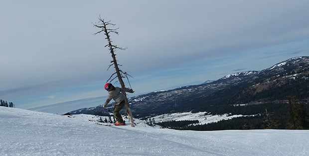 Finding a knoll to butter at Sugar Bowl with Mike Carr