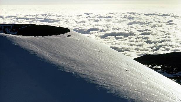 Skiing Mauna Kea, Hawaii