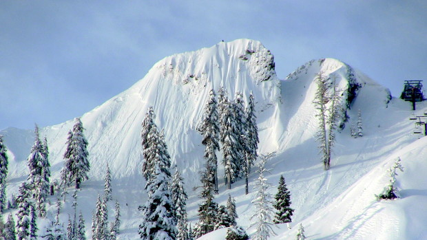 A Tahoe ski lease gets you that much closer to this. McConkey's on KT-22. photo: snowbrains